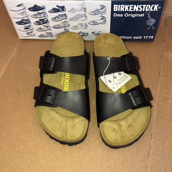 Birkenstock Shoes - Birkenstock Arizona Black Sandals With the Box 🔥